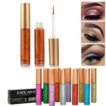 HANDAIYAN Waterproof Eyeliner Liquid Make Up Beauty Eye Liner Pencils Glitter Shimmer Shiny Makeup Eye Liner 10 Colors Z3