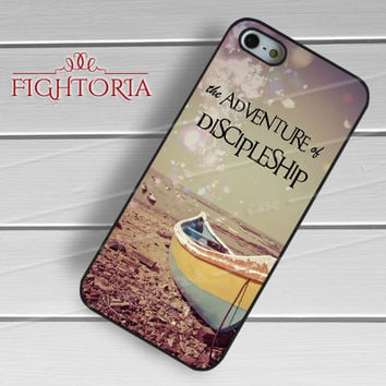 Fisherman Boat With Quote -ed3 for iPhone 6S case, iPhone 5s case, iPhone 6 case, iPhone 4S, Samsung S6 Edge