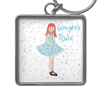 Cute Little Girl Gingers Rule Keychain