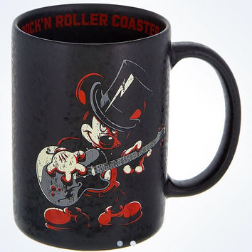 disney parks mickey mouse rock 'n' roller coaster ceramic coffee mug