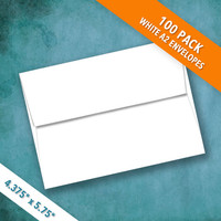 A2 Size White Envelopes | Pack of 100