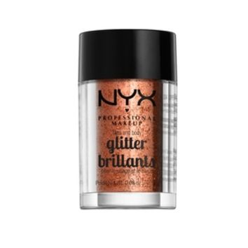 NYX Professional Makeup Face & Body Glitter, Copper