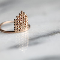 S t e l l i t a .Vermeil Ring.  silver and gold ring.