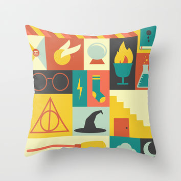 Harry Potter Throw Pillow by Ariel Wilson