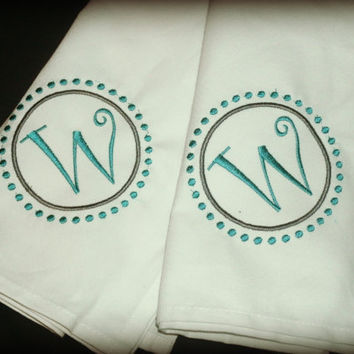 Personalized Intial Dinner Napkin set of 2 Monogram