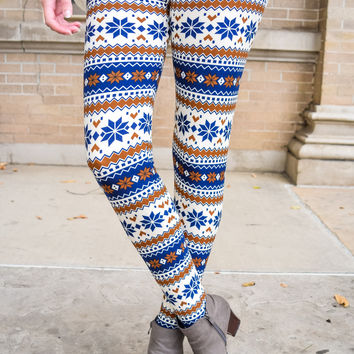 Sweater Weather Printed Legging