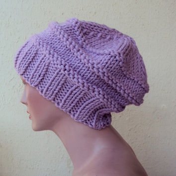 Knit Slouchy Hat Beanie Oversized Chunky Hat Women's Fashion Accessories
