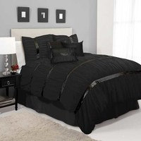 Lush Decor Glitter Sky Black Queen Comforter Set by Lush Decor Bedding: The Home Decorating Company