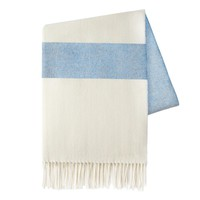 Sydney Herringbone Stripe Throw | Denim