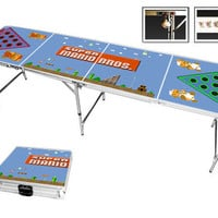 Custom Super Mario / Super Mrio Bros. NES Beer Pong Table