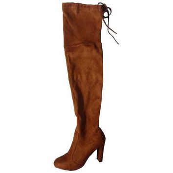Faux Suede Slim Boots Over the Knee Boots up to Size 10 (26.5cm EU 43)