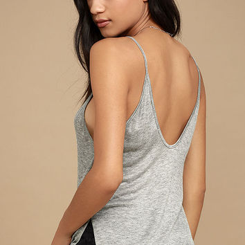 Way to My Heart Heather Grey Tank Top