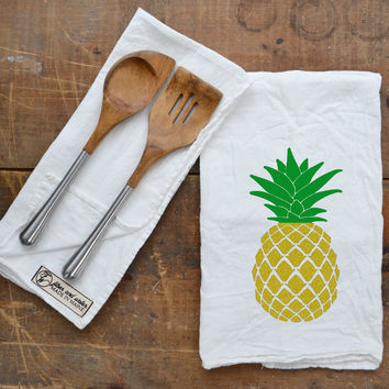 Golden Pineapple Flour Sack Towel