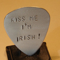Guitar Pick Kiss Me I am Irish Saint Patricks Day by NiciLaskin