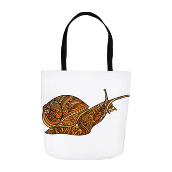 Teacher Gifts Orange Snail Science Tote Bags