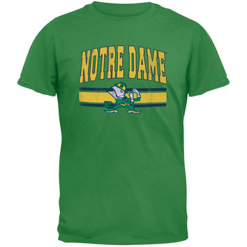 Notre Dame Fighting Irish - Distressed Bar Logo Vintage Adult Soft T-Shirt