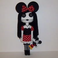 Minnie Mouse Gothic Rag Doll by MandysStitchery on Etsy
