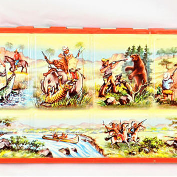 Lyra Children's Tin Paint Set, 38 Watercolors, Made in West Germany, Vintage Paint Set