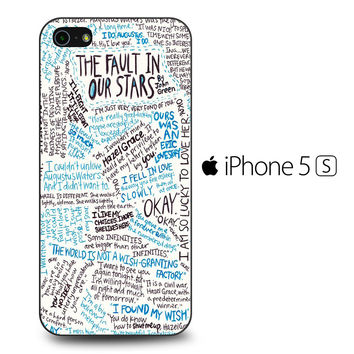 TFIOS Quotes Writen iPhone 5S Case