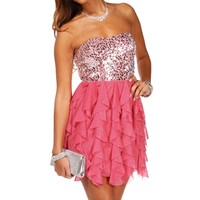 Rhianne-Coral Homecoming Dress