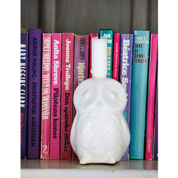 owl candle holder by rose & grey | notonthehighstreet.com