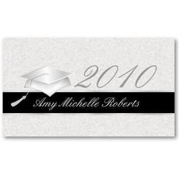 High School Graduation Name Cards - 2010 Business Card Template from Zazzle.com