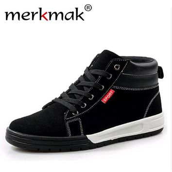 Mermak 2017 Autumn Men Boots Fashion Causal Ankle Men Shoes Breathable Suede Outdoor Footwear Lace Up Zapatos Hombres Drop Ship