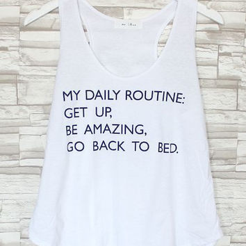 Daily Routine: Be Amazing Tank