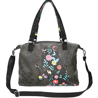 Loungefly Disney Alice In Wonderland Floral Silhouette Tote Bag