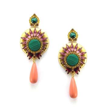 Larissa Earrings, Sunny Ruby