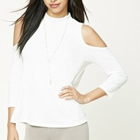 Open-Shoulder High Neck Top