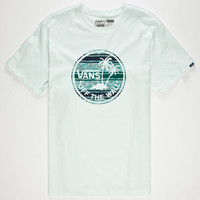 Vans Surf Palm Fill Mens T-Shirt Blue  In Sizes