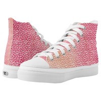 Super Chic Watercolor Orange To Pink Triangles High-Top Sneakers