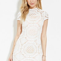 Crochet High-Neck Dress