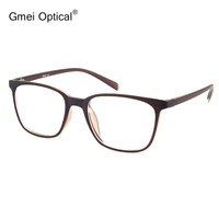 Simple Design Ultra-Light  Semi-Transparent Matte Orange Optical Frame Stylish Spectacles For  Women's Prescription Eyeglasses