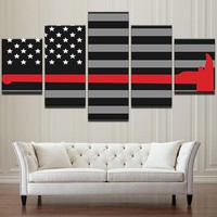 Firefighter American Flag with Red Axe