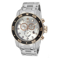 Invicta 80037 Men's Pro Diver Chronograph Silver Dial Stainless Steel Dive Watch