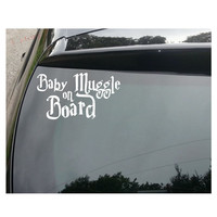 Baby Muggle on Board Decal Sticker