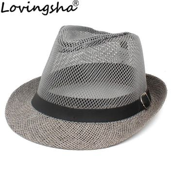 Men Fedoras Hat Hollow Out Ventilat Jazz Cap Adult Bucket Hat Sun Cap For Lady Summer Panama Hat Women Photography Props ABH003