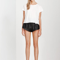 THE BASICS CROPPED TEE