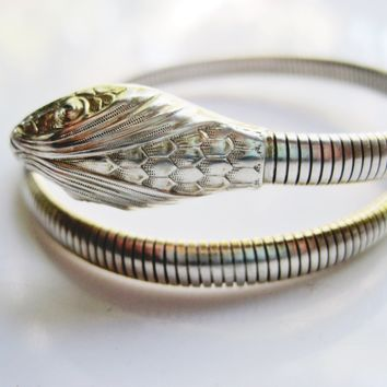 Single Coil Sterling Silver Forstner Snake Bracelet