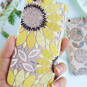 Yellow Sunflower iPhone 7 7 Plus & iPhone 6 6s Plus & iPhone 5s se Case Personal Tailor Cover For iphone 5 5s 6 6s 6plus 6s plus 7 7plus +Christmas gifts