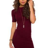 Lenora Dress - Burgundy