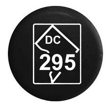 Washington DC State Route Highway 295 Scenic Sign RV Camper Jeep Spare Tire Cover