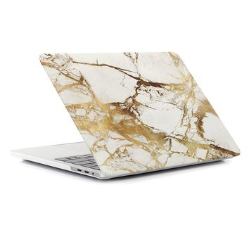 Aesetek Hard Shell Case for Macbook Pro 13 inch (2016/2017 Release) A1706 with Touch Bar/A1708 without Touch Bar, Smooth Finish, Marble Glod