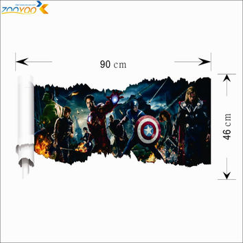 avengers age of ultron movie wall sticker kids bedroom decoration 1456 adesivo de paredes diy print mural art home decal poster SM6
