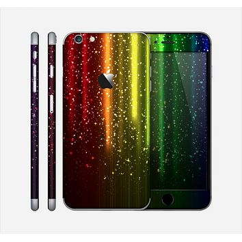 The Neon Glowing Rain Skin for the Apple iPhone 6 Plus