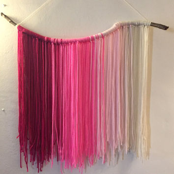 The Pink Ombre Yarn Tapestry