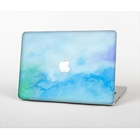 The Subtle Green & Blue Watercolor V2 Skin Set for the Apple MacBook Pro 13""