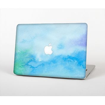 The Subtle Green & Blue Watercolor V2 Skin Set for the Apple MacBook Air 11""